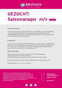 Vacature tekst salesmanager