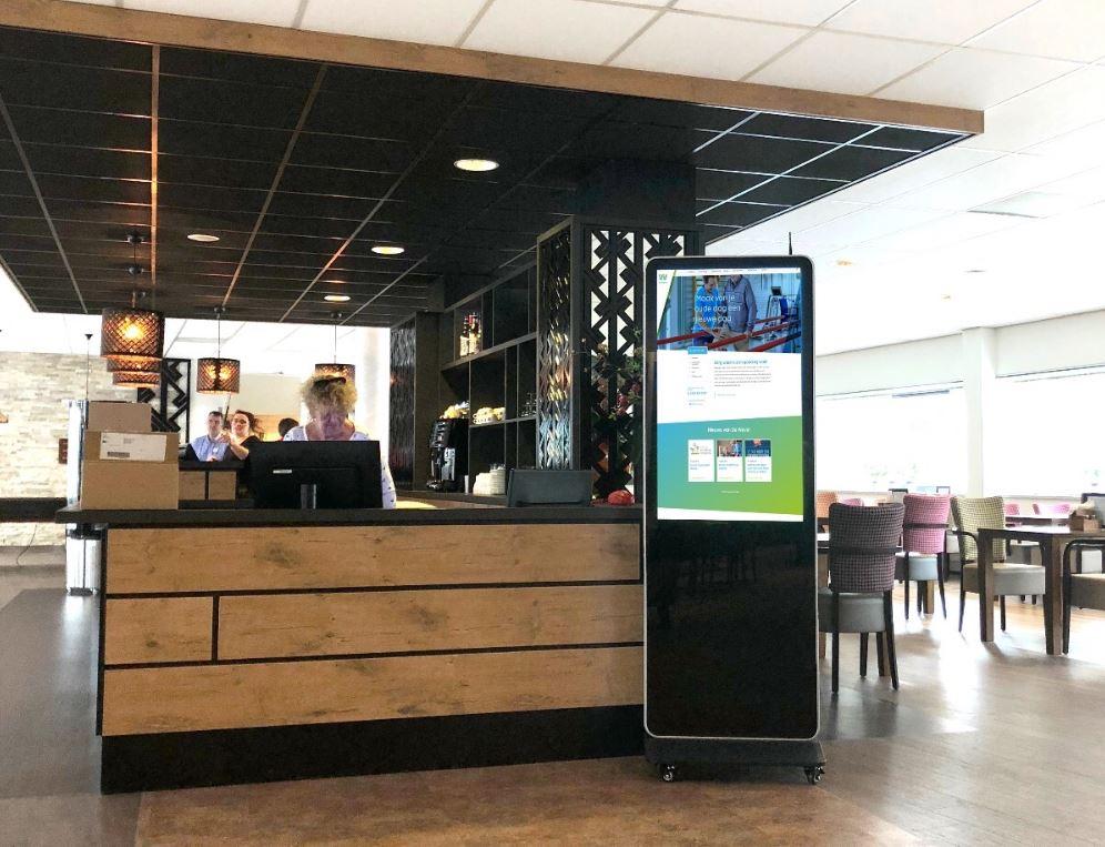 Digital signage in een restaurant
