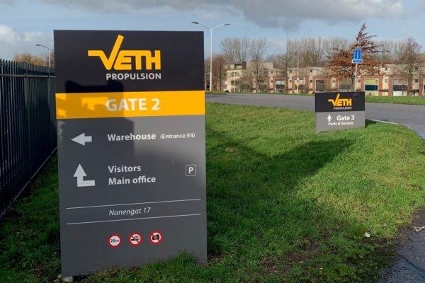 Routing voor Veth Propulsion: zuil buiten