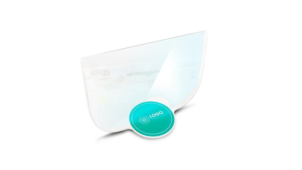 Transparante plexiglas op standaard