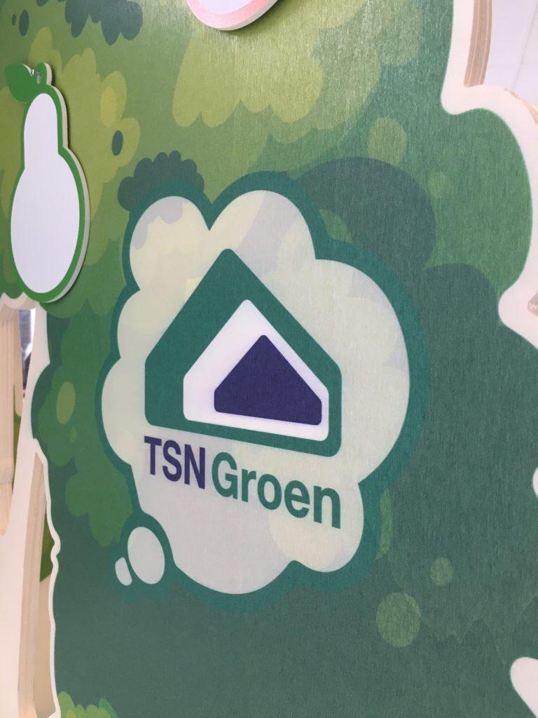 Close up logo TSN Groen