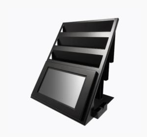 Voorbeeld van hardware product balie display