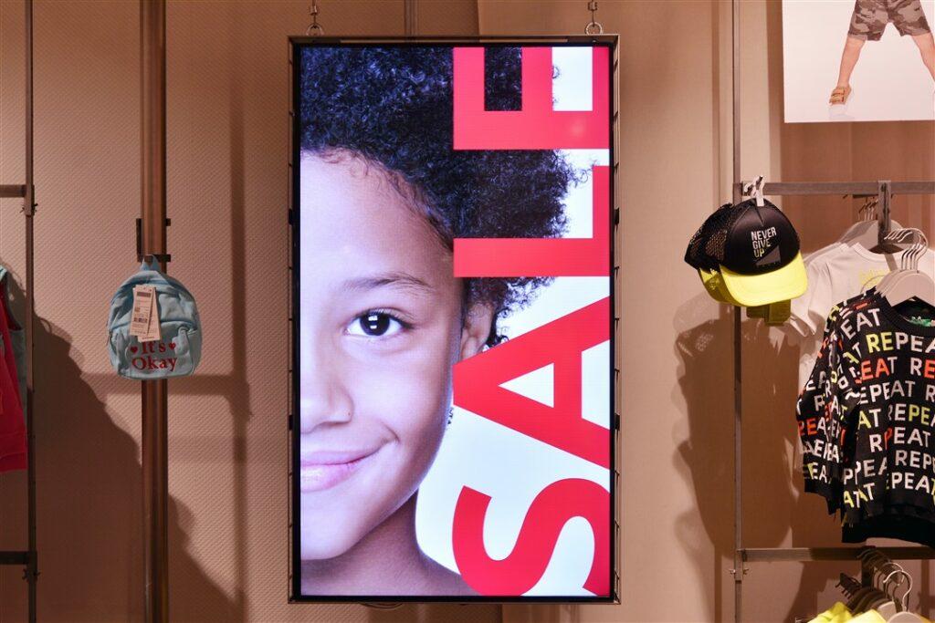 Portrait scherm in winkel
