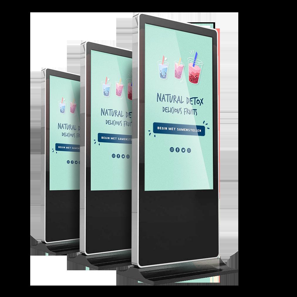 Iphone zuil digital signage zwart