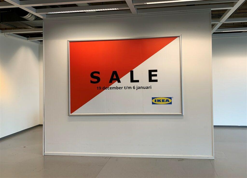 Grote kliklijst IKEA met opdruk SALE