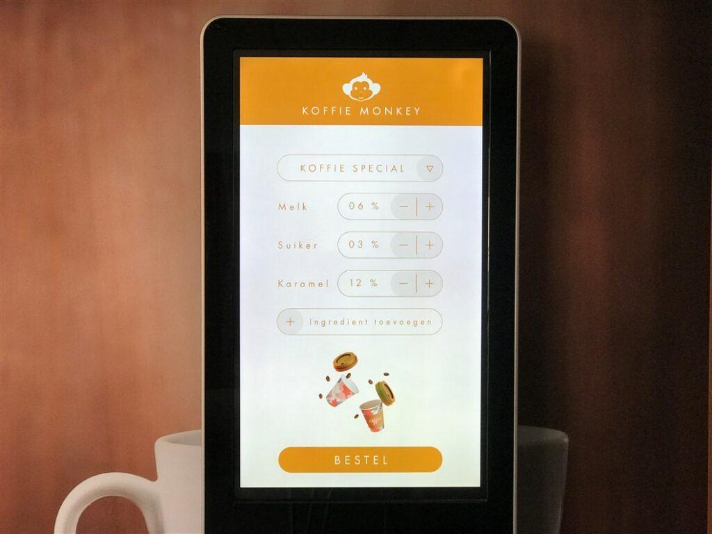 Display Touch met bestelformulier