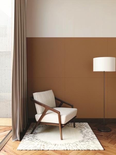 Wand voorzien van LG Interieurfolie Leer