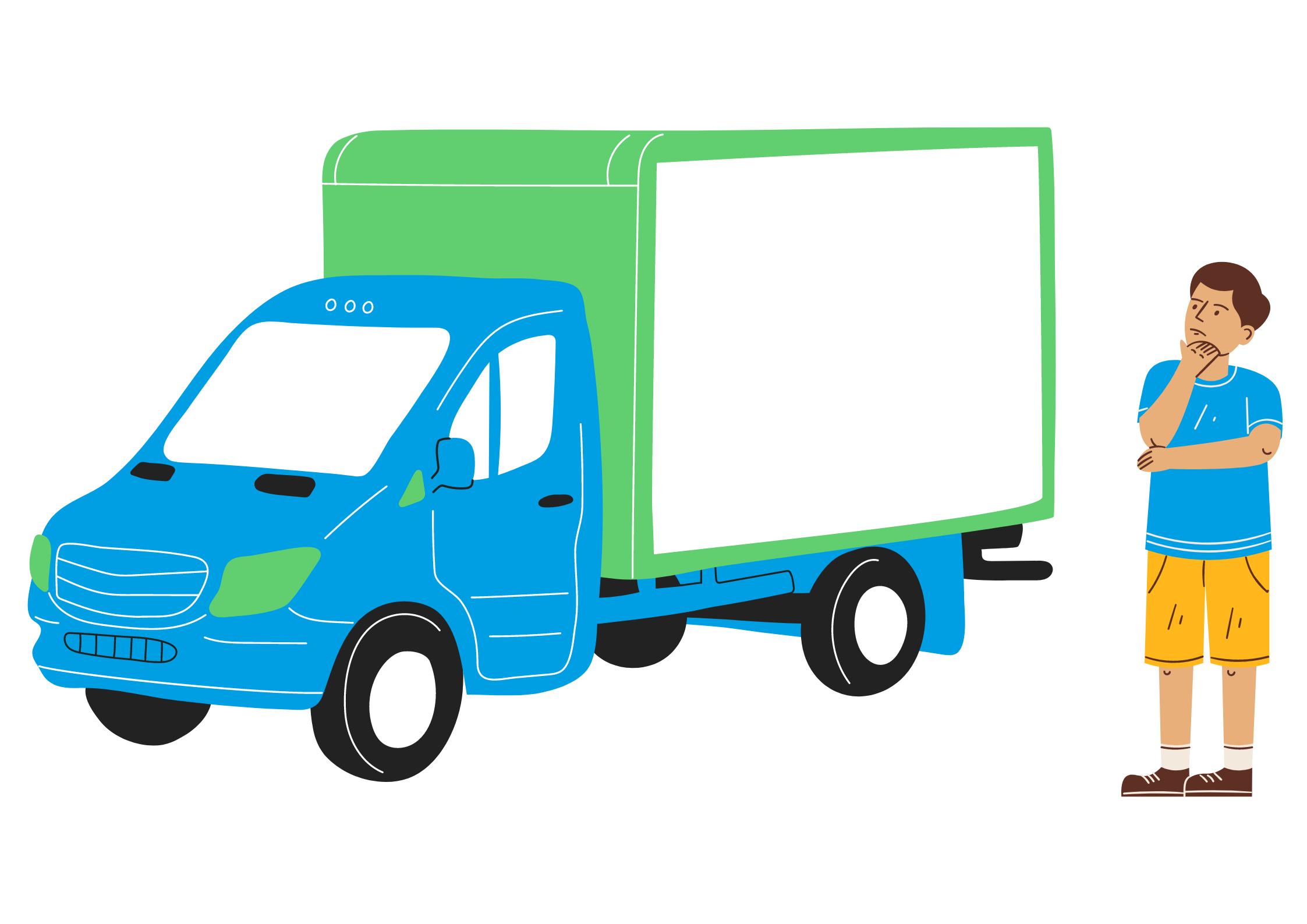 Animatie bij 'plan voor vrachtwagenreclame'
