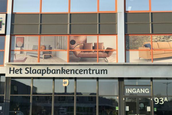 One way vision raamfolie met visuals van diverse slaapbanken
